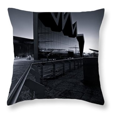 Glasgow Riverside Museum Throw Pillow