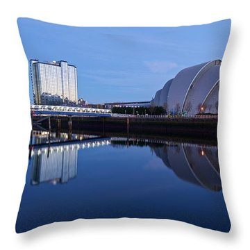 Throw Pillow featuring the photograph Glasgow Riverside by Stephen Taylor