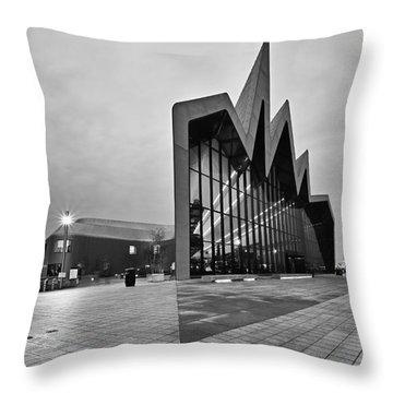 Glasgow Riverside Transport Museum Throw Pillow