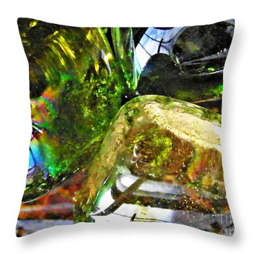 Glass Abstract 119 Throw Pillow by Sarah Loft