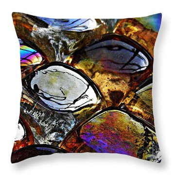 Glass Abstract 13 Throw Pillow by Sarah Loft