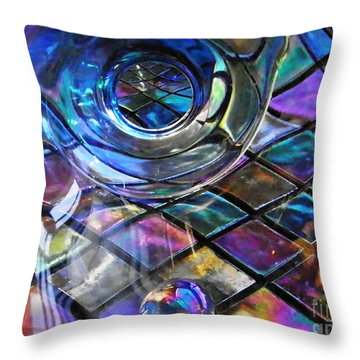 Glass Abstract 262 Throw Pillow by Sarah Loft