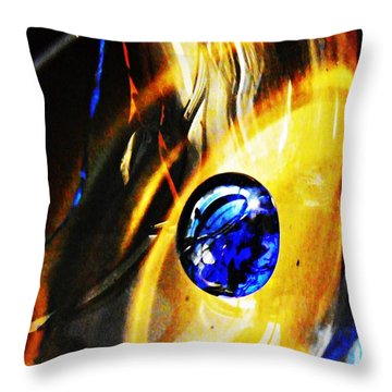 Glass Abstract 281 Throw Pillow by Sarah Loft