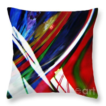 Glass Abstract 293 Throw Pillow by Sarah Loft