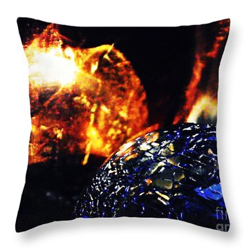 Glass Abstract 354 Throw Pillow by Sarah Loft