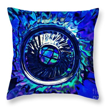 Glass Abstract 481 Throw Pillow by Sarah Loft
