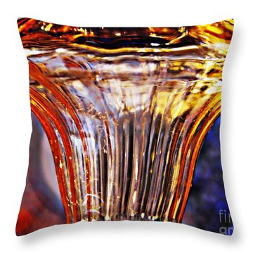 Glass Abstract 562 Throw Pillow by Sarah Loft