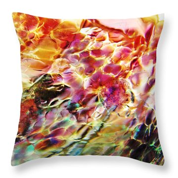 Glass Abstract 753 Throw Pillow by Sarah Loft