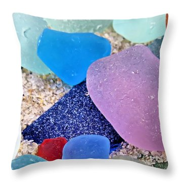 Glass And Sand Throw Pillow