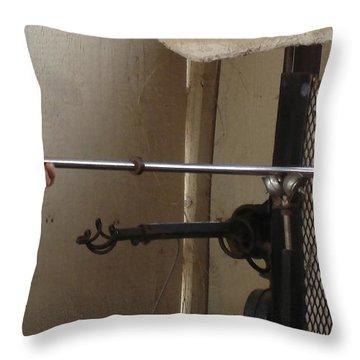 Throw Pillow featuring the photograph Glass Artisan Hands by Kerri Mortenson