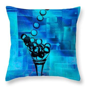 Glass Balls Throw Pillow by Mauro Celotti