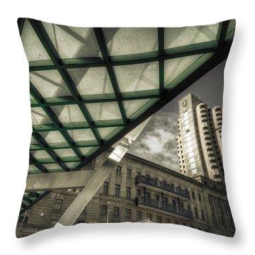 Glass Bridge Throw Pillow by Wayne Sherriff
