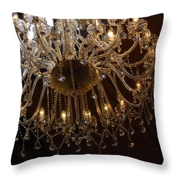 Glass Chandelier Throw Pillow