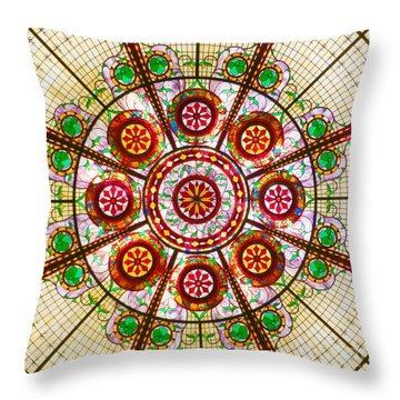 Glass Dome Throw Pillow by Val Miller