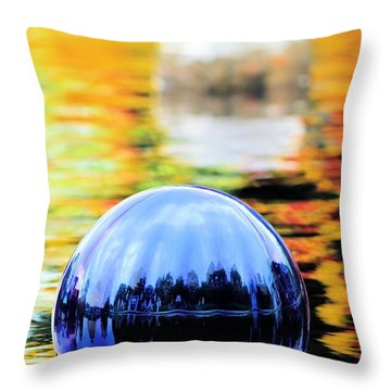 Glass Floats Throw Pillow