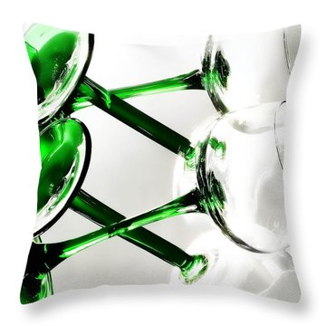 Glass Glow Throw Pillow by Camille Lopez