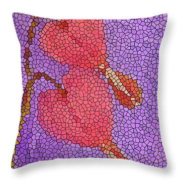Glass Hearts Throw Pillow by Chris Berry