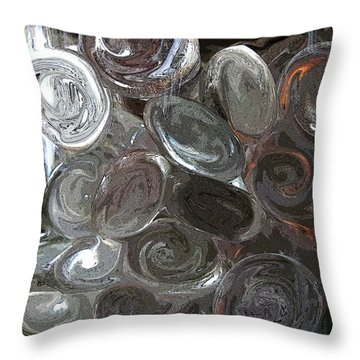Throw Pillow featuring the digital art Glass In Glass 2 by Mary Bedy