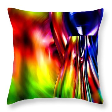 Glass In Motion Throw Pillow by Pamela Blizzard