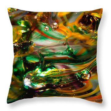 Glass Macro Abstract Ego1 Throw Pillow by David Patterson