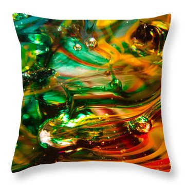 Glass Macro Abstract Ego1ce Throw Pillow by David Patterson