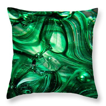 Glass Macro Abstract Egw Throw Pillow by David Patterson