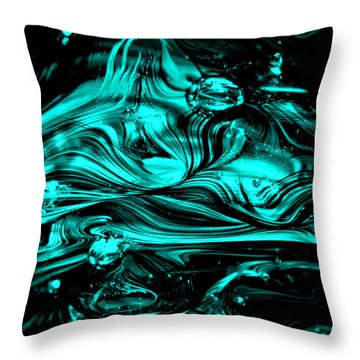 Glass Macro Abstract Rbwce2 Throw Pillow by David Patterson