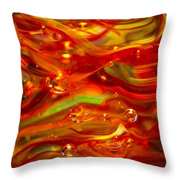 Glass Macro Abstract Rf1 Throw Pillow by David Patterson