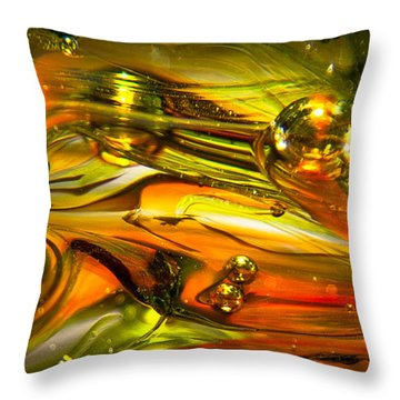 Glass Macro Abstract Rgo1 Throw Pillow by David Patterson