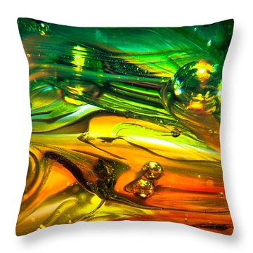 Glass Macro Abstract Rgo1ce2 Throw Pillow by David Patterson