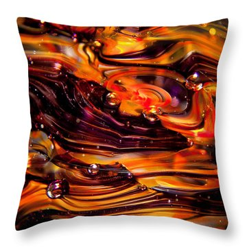 Glass Macro Abstract Rpo Throw Pillow by David Patterson
