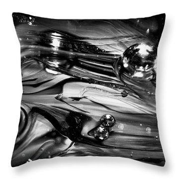 Glass Macro Rgo1ce Throw Pillow by David Patterson