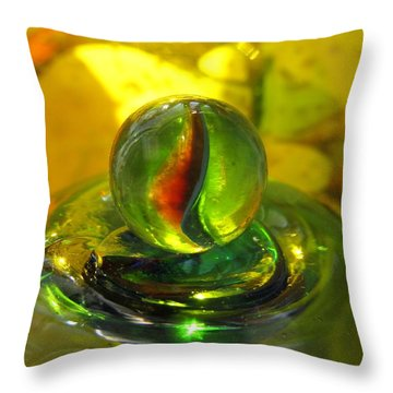 Glass Marble Still Life Throw Pillow