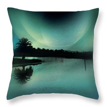 Glass Moon Throw Pillow