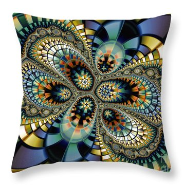 Glass Mosaic-geometric Abstraction Throw Pillow