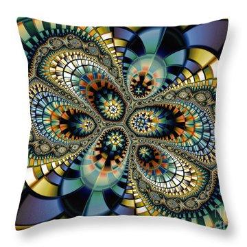 Glass Mosaic-geometric Abstraction Throw Pillow by Karin Kuhlmann