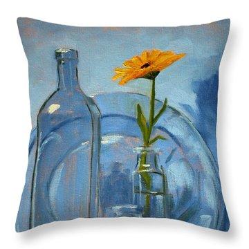 Glass Throw Pillow by Nancy Merkle