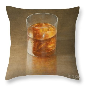 Glass Of Whisky 2010 Throw Pillow