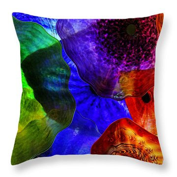 Glass Palette Throw Pillow