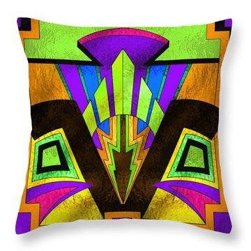 Glass Pattern 5 B Throw Pillow