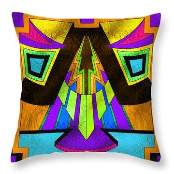 Glass Pattern 5 D Throw Pillow