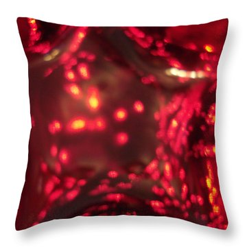 Glass Red And Orange Star Throw Pillow
