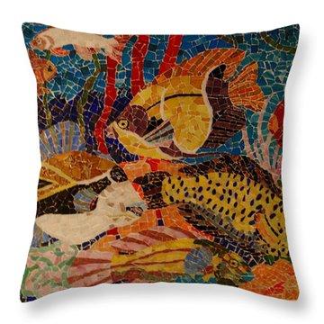 Glass Reef Throw Pillow by Suzette Kallen