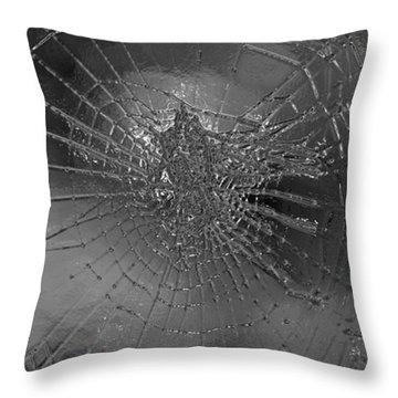Glass Spider Throw Pillow by Carol Lynch