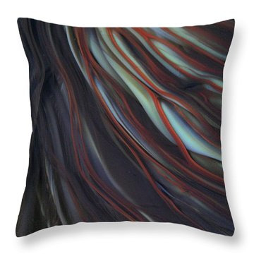 Glass Veins Throw Pillow