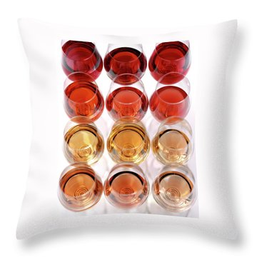 Glasses Of Rose Wine Throw Pillow