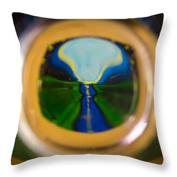 Glassy River Throw Pillow