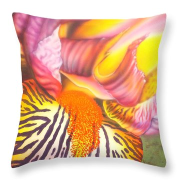 Glavis Iris Throw Pillow