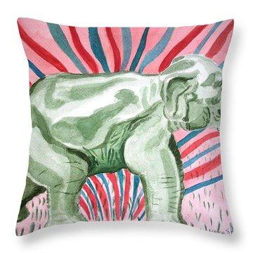 Gleeful Elephant Throw Pillow