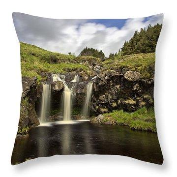 Glen Brittle Throw Pillow by David Pringle